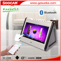android wifi touchscreen bluetooth dual screen hard drive portable ktv karaoke machine player with usb sd card