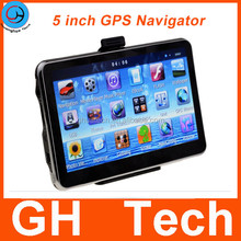 4GB ROM 5 inch Car GPS Navigation with AVI Bluetooth FM Radio