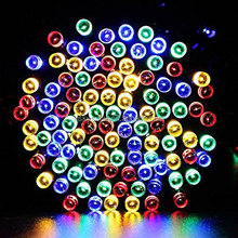 100 LED Multi-color Solar Waterproof Xmas Lights for tree decor with festive holiday atmosphere