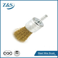 Rust removal wire end brush