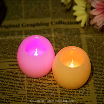 Real Wax Body Oval Shape LED Electric Candle with Flickering Light