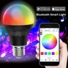 Smart Bluetooth LED Bulb A19 WIFI LED Bulb - 7.5W 60W Equivalent - RGBW Multi Colors Dimmable LED Light Bulb