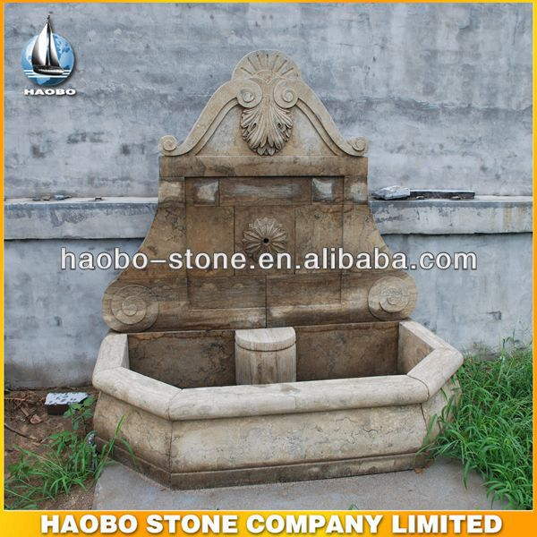Haobo China Wholesale Marble Outdoor Wall Fountain Waterfall