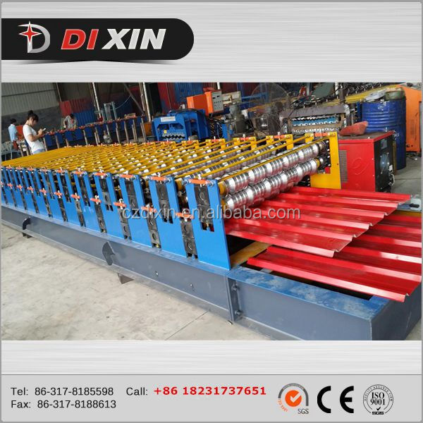 Automatic double deck metal wall and roof tile sheet rolling forming machine