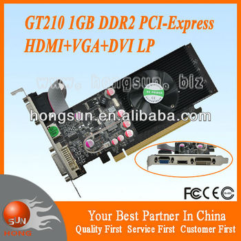 GT210 1GB DDR2 VGA/DVI/HDMI Low Profile PCI-Express Cheap Graphic Card