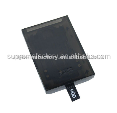 For Xbox 360 Slim Clear Black Replacement Hard Disk Drive HDD Case New