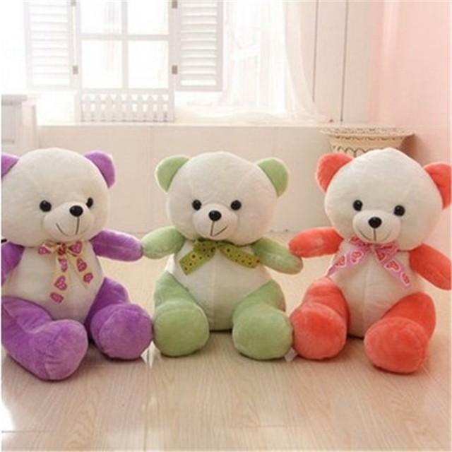Plush custom big eyes teddy bear fashion design soft toy for girls