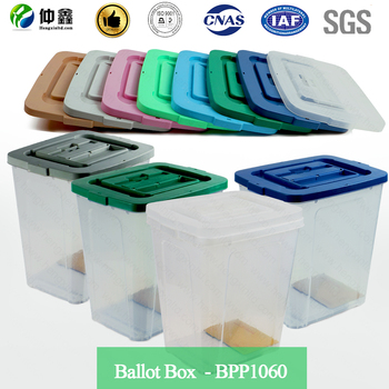 wholesale price plastic box/election box with PP material 100% clearly