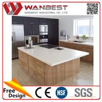 Kitchen Countertop Kitchen Tables Stainless Steel Kitchen Furniture counter top With Artificial Marble Material