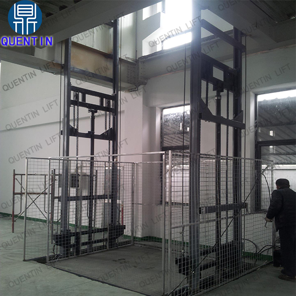 CE approved warehouse vertical goods lift platform loading 1.5T freight elevator cargo lift