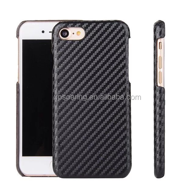 Leather skin hard shell cover case for iPhone 7 iPhone 7 plus
