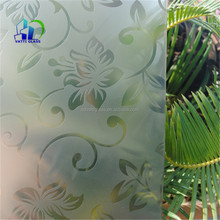 12mm acid etched tempered glass white frosted glass panle for door