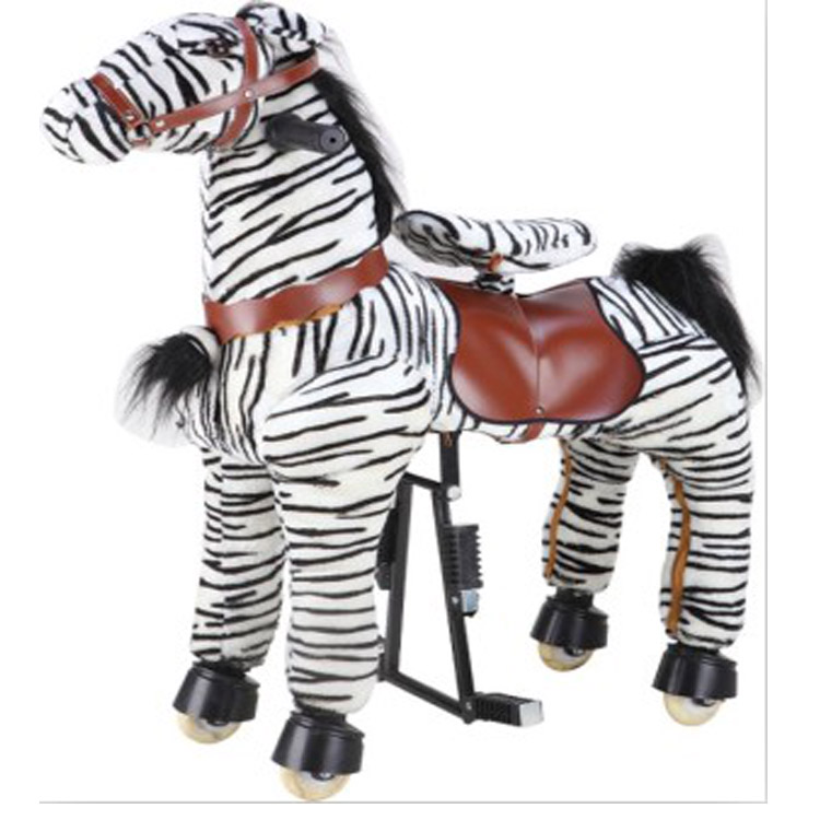 2017 hot sale zebra hores mechanical riding horse horse riding toy mechanical pony horse