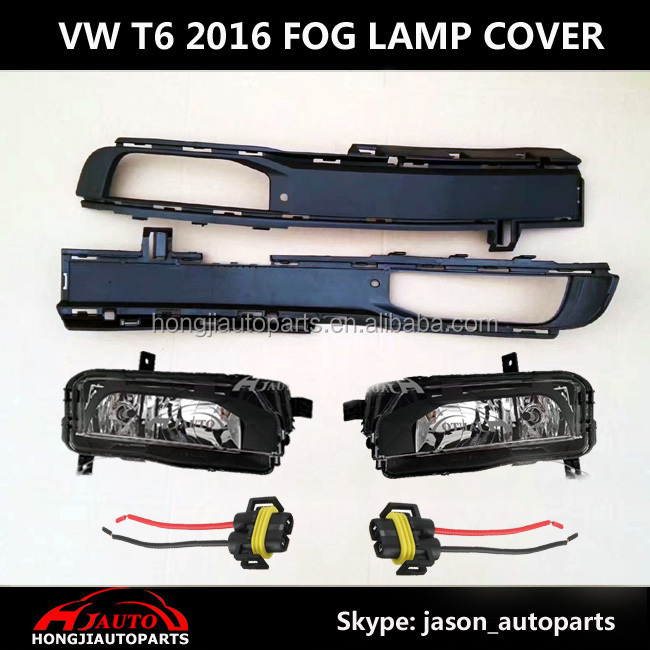 VW Transporter T6 2016 2017 Fog Lamp Light Assembly Kits With Bumper Grille Cover