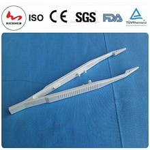 Plastic Disposable Forceps Sterile Medical Tweezers