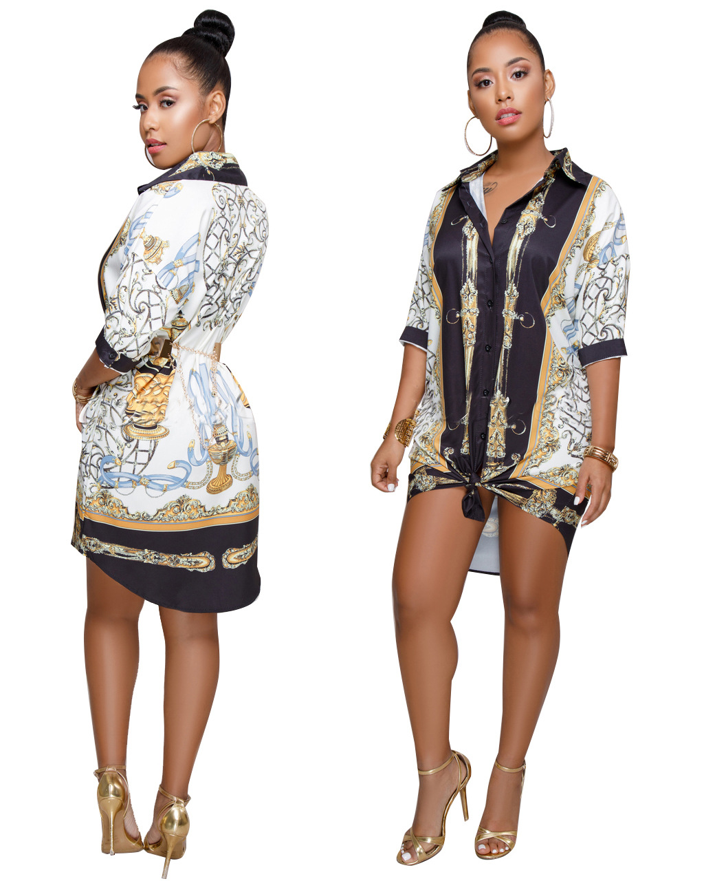9276  shirts and blouses ladies 2019 long sleeve plus size blouse dress