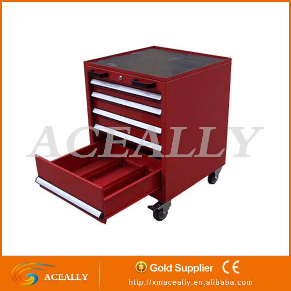 cheap 4/6/8/12 drawer red rolling industrial tool cabinet with tools sets