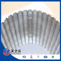 Slot size 1mm Johnson wedge wire water well screen filter/johnson v wedge wire stainless steel water well pipe screen