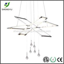 single painted silver aluminum led chandelier lights