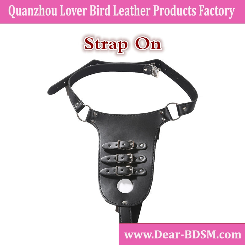 Leather lesbian Strapon 3.5cm hole for dildo strap on Adjustable Harness adult sex toys for women sex products