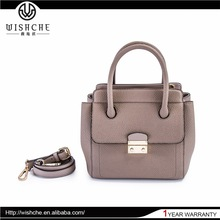 Wishche Top Stylish Designer Real Leather Satchel Bag Ladies Handbag Manufacturers Customized Girls Fashion Tote Mini Bags W049