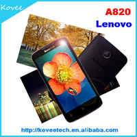 cheap cdma mobile phone 4.5inch Lenovo A820 Android 4.1 ICS Qualcomm MSM8625 Quad Core WIFI GPS Bluetooth 3G CDMA mobile phone
