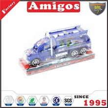 good friction trailer car with 1 pcs dinosaur white/blue latest truck toy