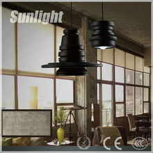 American modern style simple design industrial black Iron pendant lamp/light