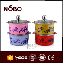 Coating printing stainless steel hot pot wholesale