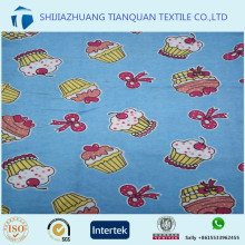 custom 100% cotton poplin cake printed fabric for children's sleepwear