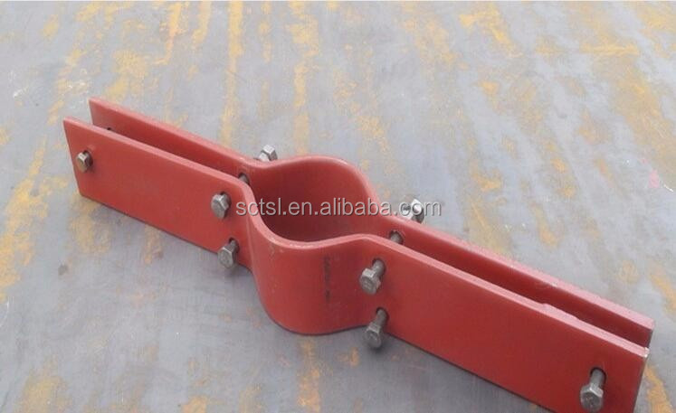 Galvanized Two Bolt Steel Riser Clamp for Pipe connection