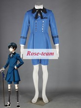 Fantasia Anime Lolita-Black Butler Ciel Phantomhive Blue Costume Halloween Cosplay Costume for Sale