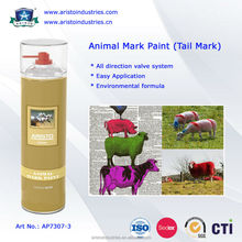 animal marking spray paint/Fast Drying Waterproof Spray Animal Mark Paint for Pig / Sheep / Horse Tail Purple Red Green