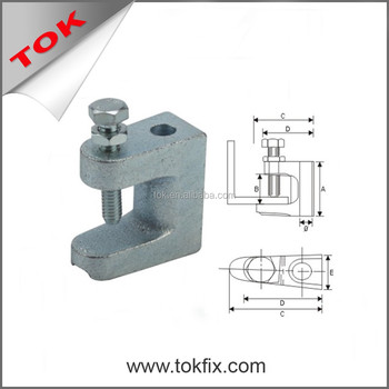 M8 / M10 / M12 Malleable Universal steel Iron Beam Clamp