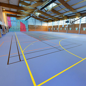synthetic sport flooring for volleyball and indoor tennis