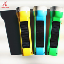 New Hot sales Handle Solar Rechargeable Torch Power LED Flashlights