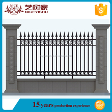 Yishu factory Alibaba top quality anti climb boundary fence price, iron wall grill design