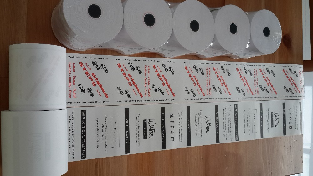 Wholesale 57mm thermal paper till rolls for pos machine and cash register machine