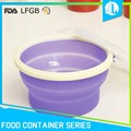 Eco-friendly silicone material deep round food container