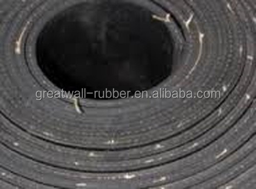 SBR CR NBR EPDM 3mm Thickness With 1 or 2ply layer Insertion Cotton EP Cloth Rubber