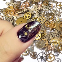 Wholesale Time gear Steam punk 3D nail art decoration accessories / Machine Style Nail Design clocks Steam nails accesories