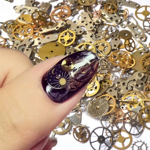 Wholesale Time gear Steam punk 3D nail art decoration accessories / Machine Style Nail Design clocks Steam nails accessories