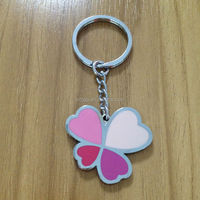 gifts metal four leaf clover epoxy dripping keychain, key ring