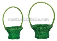 Wicker baset for home and garden