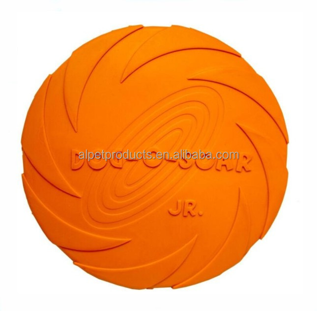 Pet Rubber Training Tots Frisbee Dog Flying Disc Toy