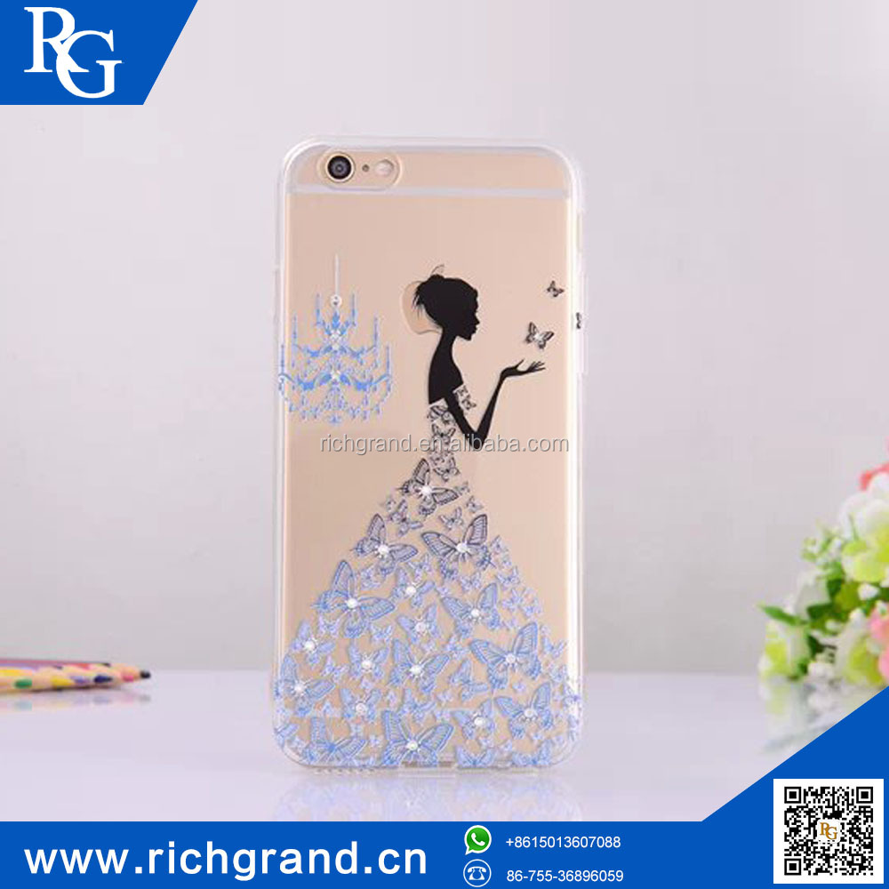 New stylish 3D bling diamond mobile phone back cover for iphone 6 6 plus