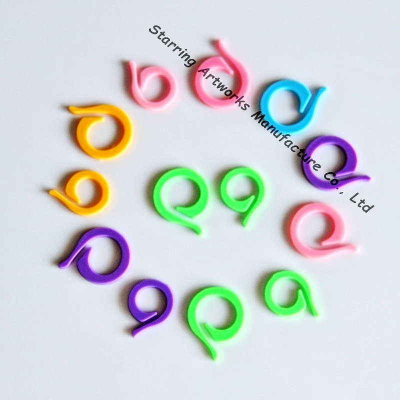 Hand Plastic Sewing Tool Ring Stitch Marker Two Size