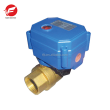 DN20 CWX Brass Mini Motorized Valves Electric Water Valve Flow Control Valve Actuator