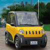 45km/h electric car European approved cheap 4 wheel electric smart car for sale with three-point safety belt