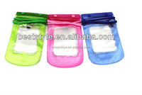 Custom printed clear pvc waterproof bag for iphone 5S